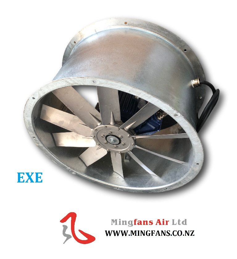 EXE RATE INLINE AXIAL FAN SPRAYBOTH