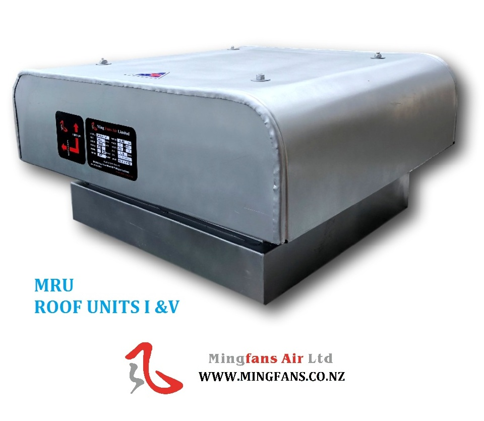 MRU SERIES AXIAL FAN ROOF UNITS